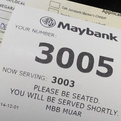 Photo taken at Maybank by Boestamam on 12/1/2014