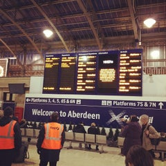 Photo taken at Aberdeen Railway Station (ABD) by Bruce S. on 11/5/2012