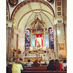Photo taken at Minor Basilica of the Black Nazarene (Quiapo Church) by Kristoffer King P. on 4/2/2013