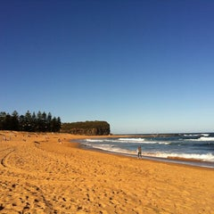 Photo taken at Mona Vale Beach by Caroline M. on 12/13/2012