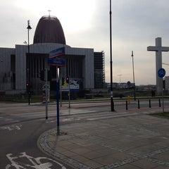 Photo taken at Świątynia Opatrzności Bożej by Cezary P. on 11/1/2013