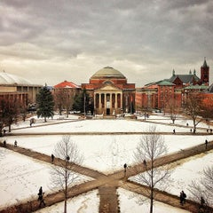 Photo taken at Syracuse University Quad by sam m. on 2/11/2013