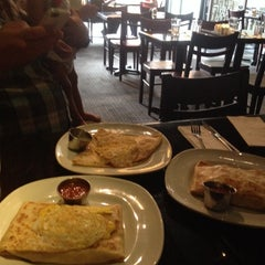 Photo taken at Brasserie Creperie by Lora N. on 7/14/2014
