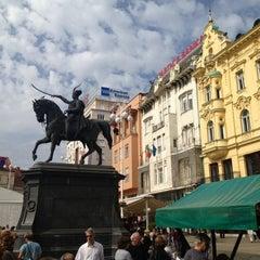 Photo taken at Trg bana Josipa Jelačića by Vlasta V. on 9/29/2012