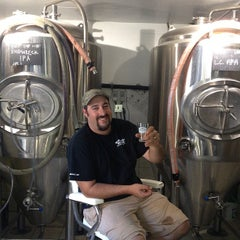 Photo taken at Monhegan Brewing Company by Jed B. on 8/4/2013
