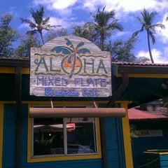Photo taken at Aloha Mixed Plate by Rich T. on 6/29/2013
