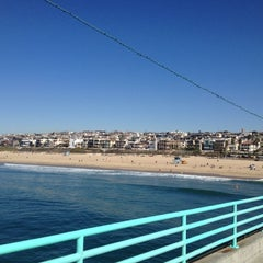 Photo taken at Manhattan Beach Pier by Jay K. on 11/4/2012