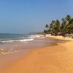 Photo taken at Anjuna Beach by Hakan on 1/29/2013