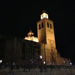 Photo taken at Monestir de Sant Cugat by Albert S. on 1/22/2013
