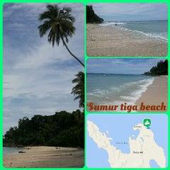 Photo taken at Sumur Tiga Beach. by Aci T. on 10/8/2014