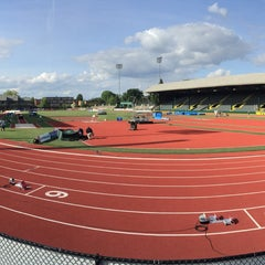 Photo taken at Hayward Field by Ahsan A. on 5/28/2016
