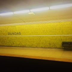 Photo taken at Dundas Subway Station by Aimless A. on 8/21/2015