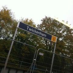 Photo taken at Twickenham Railway Station (TWI) by Jonathan C. on 10/23/2012