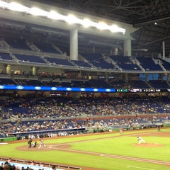 Photo taken at Marlins Park by Staci D. on 7/13/2013