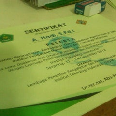 Photo taken at Institut Teknologi Indonesia (ITI) by Anggit R. on 12/13/2012