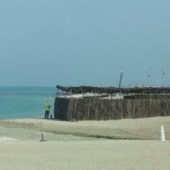 Photo taken at Al Yazwa Public Beach by Ahmed B. on 12/22/2014