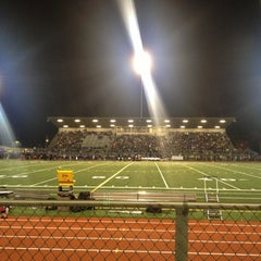 Photo taken at Sunset Stadium by Joel B. on 10/20/2012