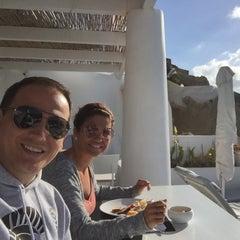 Photo taken at Katikies Hotel by Marcelo M. on 10/26/2015