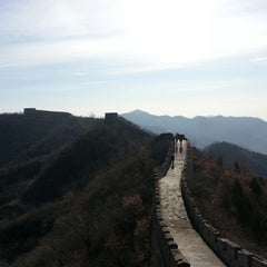Photo taken at 慕田峪长城 Great Wall at Mutianyu by Elvina L. on 11/20/2012