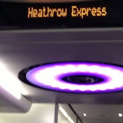 Photo taken at Heathrow Express Train - Paddington [PAD] to Heathrow [HXX] by Dawn M. on 1/25/2013