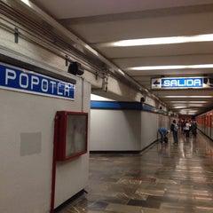 Photo taken at Metro Popotla (Línea 2) by Daniel C. on 5/23/2014