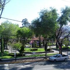 Photo taken at San Pedro Atocpan by Miguel C. on 3/30/2015