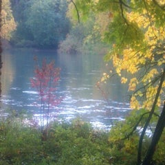 Photo taken at SweetWaters on the River by Douglas B. on 10/28/2012