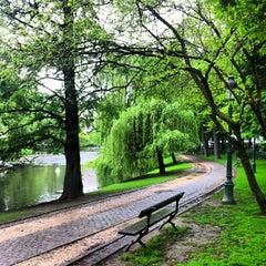 Photo taken at Parc Léopoldpark by Olivier V. on 5/21/2013