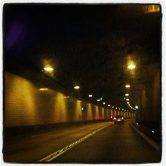 Photo taken at Elbtunnel by Coco P. on 1/28/2013