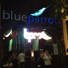 Photo taken at The Blue Parrot Beach Club by Kike T. on 1/8/2013