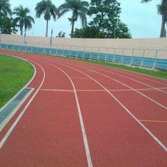 Photo taken at Stadion Pahoman by Dimas N. on 12/7/2012