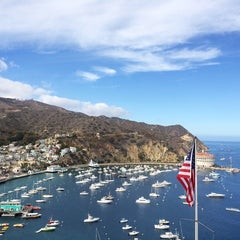 Photo taken at Avalon Harbor by Jeanne K. on 10/26/2014