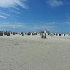 Photo taken at St. Peter-Ording Strand by Patrick K. on 8/14/2013