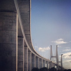 Photo taken at Ponte Vasco da Gama by Andre R. on 2/8/2013