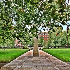 Photo taken at Grosvenor Square by F on 9/10/2014