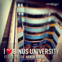 Photo taken at BINUS University by Adhi Nugroho C. on 2/21/2013