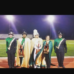 Photo taken at Oak Hills Bulldog Stadium by Alicia B. on 10/4/2015