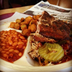 Photo taken at Rustys Bar-B-Q by Walkerscoop on 3/8/2013