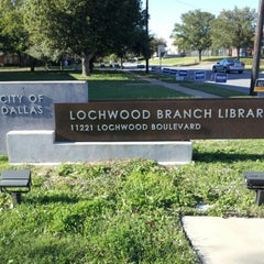 Photo taken at Dallas Public Library - Lochwood by Charles G. on 10/27/2012