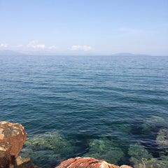 Photo taken at Παραλία Ραφήνας by Argyro K. on 3/16/2014