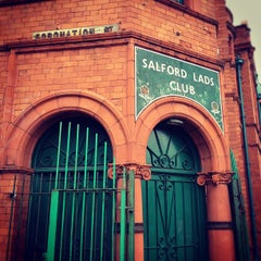 Photo taken at Salford Lads Club by Jason P. on 9/20/2012