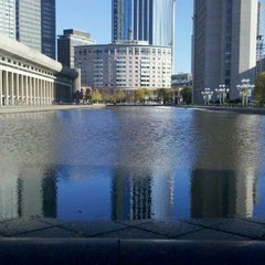 Photo taken at Christian Science Reflecting Pool by ウィー さ. on 11/6/2012