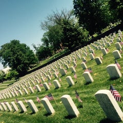 Photo taken at Alexandria National Cemetery by Elizabeth S. on 5/23/2015