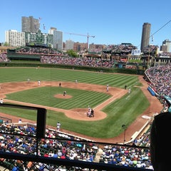 Photo taken at Wrigley Field by Kristen F. on 6/13/2013