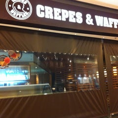 Photo taken at Crepes & Waffles by Francisca M. on 1/17/2013