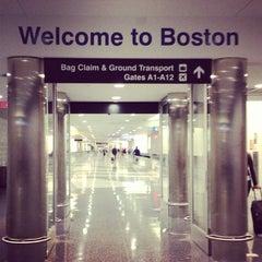 Photo taken at Boston Logan International Airport (BOS) by Kelsey B. on 6/20/2013