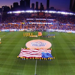 Photo taken at BBVA Compass Stadium by Aaron E. on 7/28/2013