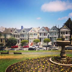 Photo taken at Alamo Square by Andrew R. on 5/26/2013