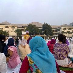 Photo taken at Al-Izhar Pondok Labu by Dina R. on 8/7/2013