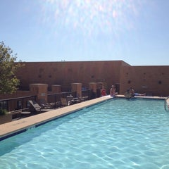 Photo taken at The Whitman Rooftop Pool by Laetitia B. on 5/11/2014